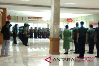 Tradisi penyambutan Pangdam XIV/Hasanuddin dilakukan lebih awal