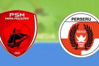 Perseru Serui tahan imbang 10 pemain PSM
