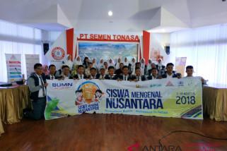 BUMN Hadir - Peserta SMN Sumbar kunjungi pabrik Semen Tonasa