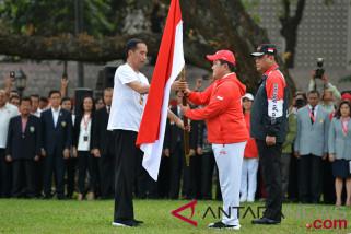 Presiden Jokowi lepas kontingen  Asian Games  Indonesia