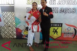 Makassar raih emas pertama Porda dari karate
