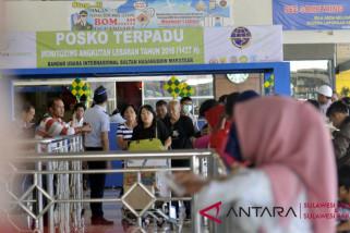 Penumpang Internasional Bandara Hasanuddin naik