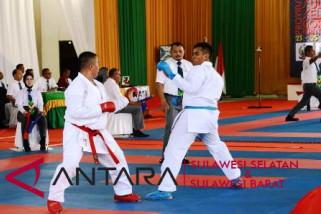 Karateka Makassar dominasi perolehan emas hari pertama Porda