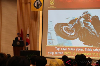 Presiden Joko Widodo beri kuliah umum di Universitas Hankuk Seoul