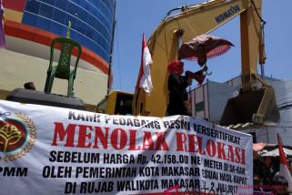 Pedagang Pasar Sentral Makassar kembali menolak relokasi