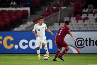 Hujan gol warnai pertandingan Indonesia melawan Qatar