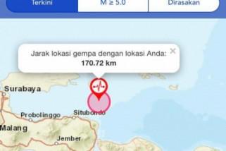 Gempa 6,4 SR guncang Jatim, tiga orang meninggal