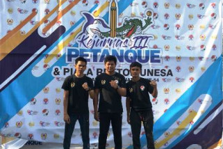 Sulsel juara umum Kejurnas Petanque Surabaya