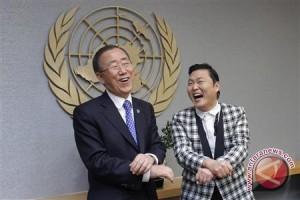 """Saat Sekjen PBB berjumpa si '""""Gangnam Style"""""""