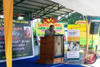 Kemenag Sulut launching Siskohaj biometik