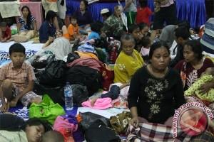 454 warga pulau Siau masih tempati pengungsian