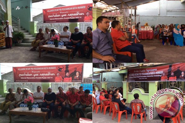 PDIP Manado buka puasa bersama muslim Sindulang