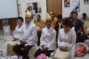 Pasangan Gaghana-hontong mendaftar di Kpu Sangihe
