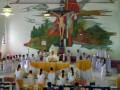 Sebanyak 25 anak sekolah dasar menerimakan Sakramen Ekaristi yang pertama atau sambut baru di Gereja Katolik Paroki Bunda Hati Kudus Yesus Rumengkor dalam Misa dipimpin Pastor Paroki Didi Andries MSC, berlangsung Minggu (26/2)