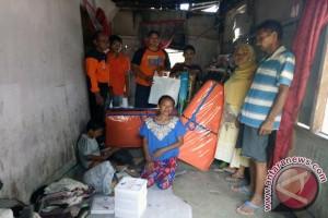 BPBD Manado Bantu Korban Bencana Cuaca Ekstrim