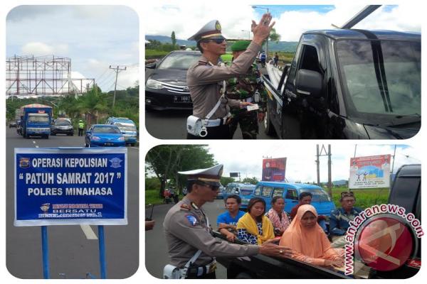 Satlantas Polres Minahasa Gelar Operasi Patuh Samrat