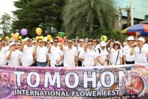Karnaval Awali Festival Bunga Internasional Tomohon 2017