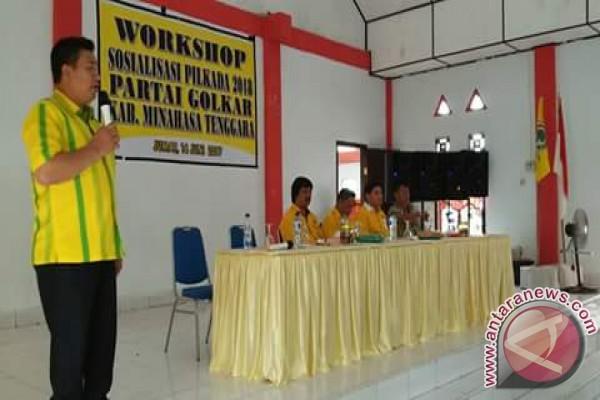 Golkar Sosialisasikan Penjaringan Cabup-cawabup Minahasa Tenggara