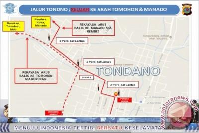 Jalur Tondano: Keluar ke Arah Tomohon dan Manado