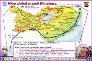 Rencana Pengamanan Lalulintas Pengucapan Syukur Kabupaten Minahasa 2017