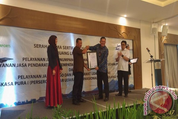 Bandara Samrat Raih Sertifikat ISO-9001:2015