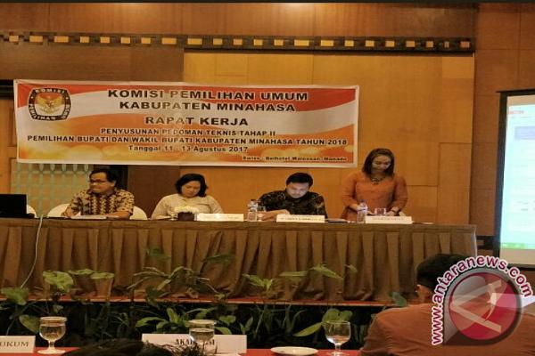 KPU Minahasa Adakan Raker Pedtek Pilbup Tahap II, Matangkan Pilkada Kredibel dan Aman