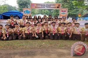 Upacara Bersama Presiden, Pramuka Minahasa Tenggara Promosikan Daerah