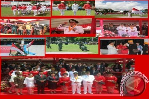 Upacara Peringatan HUT Proklamasi Kemerdekaan RI ke-72 di Minahasa Terasa di Istana Presiden