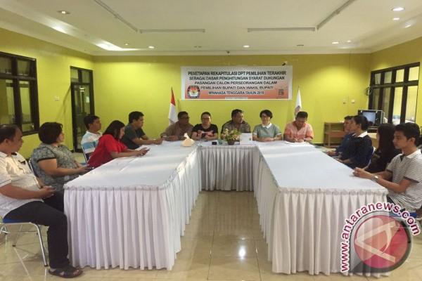 KPU Minahasa Tenggara Tetapkan Syarat Minimal Dukungan Calon Perseorangan