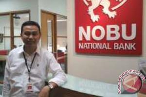 Bank Nobu Edukasi Layanan Perbankan Pengunjung Pameran Pembangunan