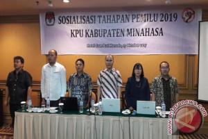 Gandeng Parpol dan Panwaslu, KPU Minahasa Sosialisasikan Tahapan Pemilu 2019