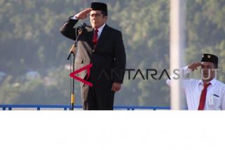 BERANDA - BUMN HADIR - PLN gelar upacara bendera di pulau terdepan
