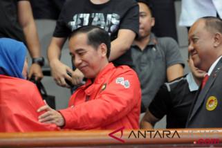 Asian Games - Joko Widodo Memberi Selamat Atlet Taekwondo Putri Indonesia