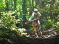 Sejumlah penghobi sepeda gunung melintasi trek kawasan Hutan Wisata Sesaot, Narmada, Lombok Barat, NTB, Rabu (9/3). Kawasan Hutan Wisata Sesaot seluas sekitar 64,2 hektar merupakan salah satu trek yang akan dilintasi oleh peserta MTB Jelajah Rimba 2016 yang akan diselenggarakan pada 19 Maret dan diikuti oleh 450 pesepeda gunung asal NTB, Bali dan Jakarta.ANTARANTB/Eka Fitriani/AS/16.