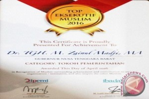 Gubernur NTB Raih Penghargaan Top Eksekutif Muslim