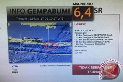 Gempa Bumi 6,4 Skala Richter Guncang Bali-NTB