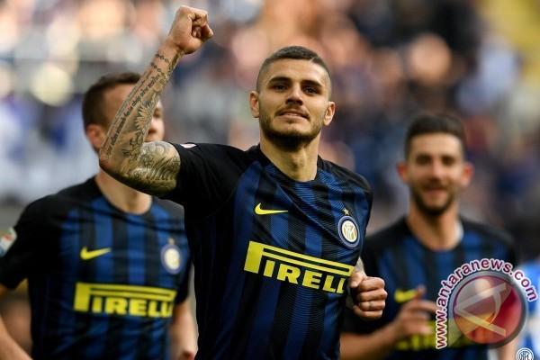 Icardi-Banega berbagi trigol, Inter bantai Atalanta 7-1