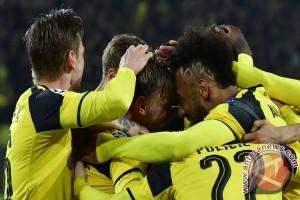 Hattrick Aubameyang antar Dortmund melenggang ke perempatfinal