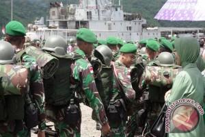 350 Personel 742/SWY Ditugaskan Ke Perbatasan Indonesia