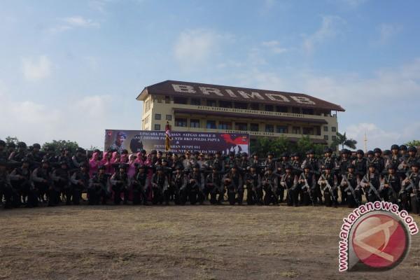 100 Personel Brimob NTB Dikirim Ke Papua