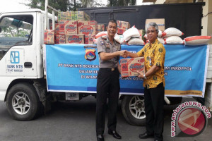 Bank NTB Bermitra dengan Polisi Salurkan Bantuan