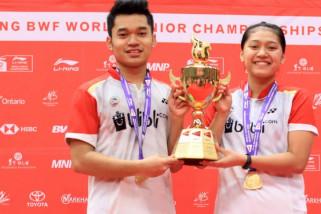 Leo/Indah sabet medali emas BWF World Junior Championships 2018