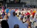 Umat Muslim mengelar Salat Idul Adha di lapangan Polda NTT, Jumat. (Foto Antara/Kornelis Kaha)