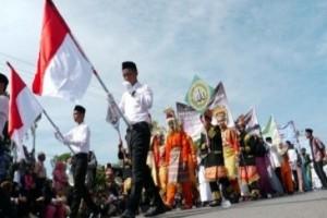 Ribuan pelajar Biak Numfor pawai penyambutan Tahun Baru Islam