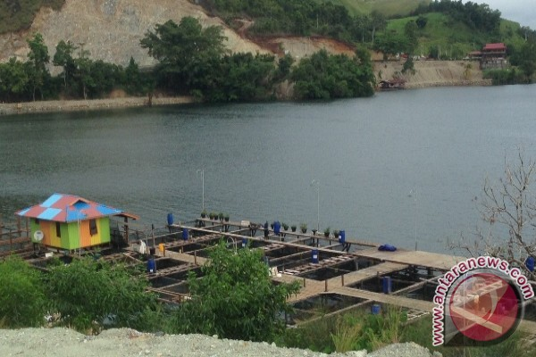Puluhan rumah di pinggiran Danau Sentani terendam air