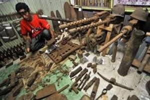 Dispar Papua rawat benda Perang Dunia II