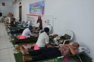 Polres Merauke gelar donor darah