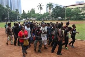 Mahasiswa Papua beraksi di Jakarta