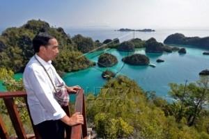 Presiden Jokowi di Raja Ampat
