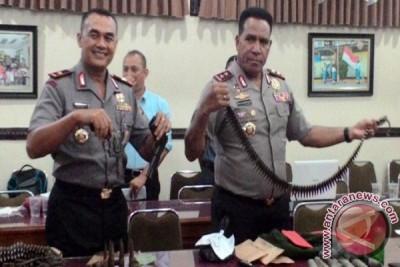 Polda Papua ekspos amunisi dan senpi KNPB